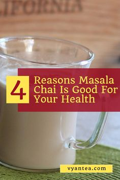 I love chai! Masala chai 'tea' is good for you! Here are a few reasons why chai 'tea' helps your health.