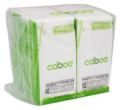 Caboo - Bamboo and Sugarcane Facial Tissue - 8 Pack(s) #ActonClimate