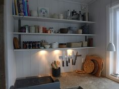 Scandinavian Retreat: kitchen counter and shelving