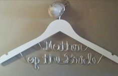 Hey, I found this really awesome Etsy listing at https://www.etsy.com/listing/130498745/bridal-hanger-two-lines-personalized