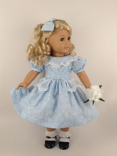 1950's Party Dress, Petticoat, & Hair Bow for American Girl 18-inch Doll