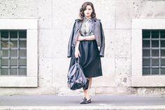 Zara skirt kenzo shirt