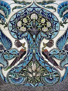 Tile Panel, 1885, William de Morgan(found in The Arts and Crafts Movement in America by Wendy Kaplan)