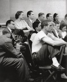 Paul Newman, The Actor's Studio, 1955 by Eve Arnold       He already stood out by turning his chair around and listening attentively.