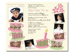 281023ab3009e5c79b5b974fe32cc07d tea parties birthday parties photo winter birthday baptism invitation one derland party first,Invitation Wording For Baptism And Birthday