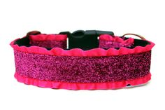 Hey, I found this really awesome Etsy listing at https://www.etsy.com/listing/164211293/hot-pink-dog-collar-15-ruffle-dog-collar