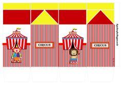 "Kit de Personalizados Tema ""Circo"" para Imprimir - Convites Digitais Simples"