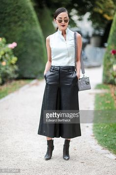 Chriselle Lim is seen outside of the Christian Dior show during Paris Fashion Week Spring Summer 2017 at the Rodin museum on September 30 2016 in...