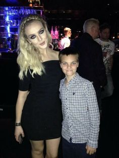 Perrie last night after the concert!!