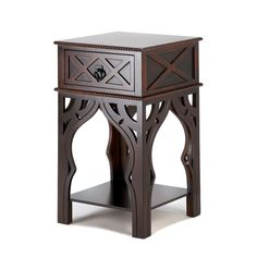 Ornate Moroccan Style Brown Table