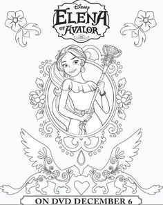 Elena Of Avalor Coloring Sheets Ready To Rule Coloring Sheet
