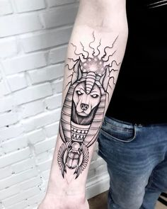 "1,805 Likes, 11 Comments - Tattoo artist Moscow (@katyageta) on Instagram: ""Anubis #mysketch #linework  #blackwork #blxckink #equilattera #tattooed #tattooart…"""