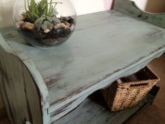 Distressed Country TV Stand or Shelf available on Etsy