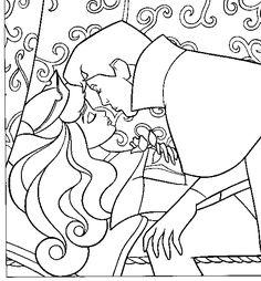 Disney Princess Sleeping Beauty Aurora Colouring Pages