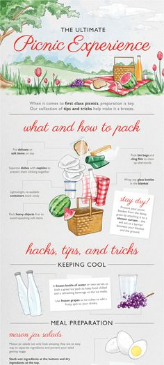 How to Pack the Ultimate Picnic Planning a summer picnic? Here are tips for transporting bagels and condiments (no hoarding packets from the drive-through required!) and wrapping yummy sandwiches so that they don't get soggy, plus much more. Family Picnic Foods, Picnic Date Food, Posh Picnic Food, Picnic Food List, Picnic Drinks, Comida Picnic, Picnic Essentials, Travel Essentials, Meals