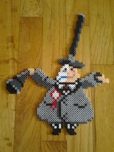 Mayor - Nightmare Before Christmas perler beads by TheSleepyBear