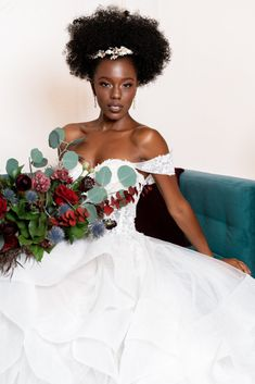 Fabulous Maroon and Teal Wedding and Boudoir Inspiration When I Get Married, Black Bride, Bridal Accessories, Boudoir, Marie, Wedding Hairstyles, Wedding Gowns, Brides, Natural Hair Styles