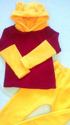 Winnie the Pooh costume/Winnie the Pooh hoodie/ Toddler Costume/ Kids Costume/Winnie the Pooh dress up/ Handmade costume