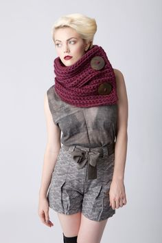 Image of Two Button Cowl