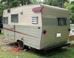 Rear side of camper