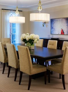 Tone on Tone Dining Room - transitional - Dining Room - Other Metro - Barnes Vanze Architects, Inc
