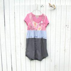 Urban Chic Dress / Funky Dress / Eco Dress / Tattered Artsy Dress / Upcycled Clothing by CreoleSha