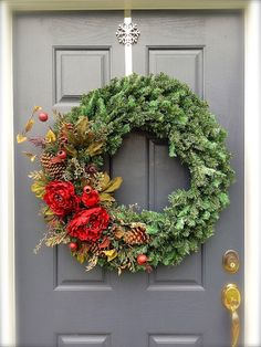Large Evergreen Wreath  Large Christmas by WreathsByRebeccaB, $65.00