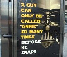 Well, I guess so. Never thought of it that way before. Star Wars Love, Go Ahead, The Force Is Strong, Geek Out, That Way, Laugh Out Loud, True Stories, Annie, I Laughed