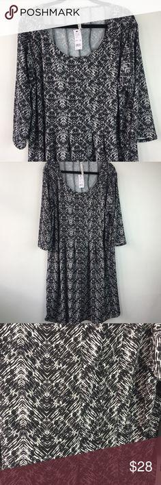 3bc79730b74 NY Collection Black White Sleeveless Swing Maxi NY Collection Plus Black  and White NWT NY Collection Dresses