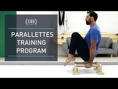 So you've decided to start a parallettes training program but don't know where to begin? Discover our full routine that includes everything you need in a parallettes workout routine. Weight Training Workouts, Body Weight Training, Training Exercises, Bikini Competition Training, Calisthenics Program, Upward Dog, Crossfit At Home, Keep Fit, Workout For Beginners