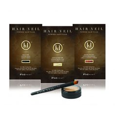HairVeil - a water-resistant powder hair-filler-perfect for thinning or fine hair or exposed scalp
