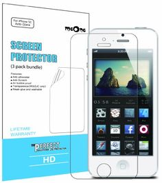 meOne iPhone 5C Anti-Glare & Anti-Fingerprint Screen Protectors [3-Pack] + Lifetime Replacement Warranty $0.49 (95% OFF)
