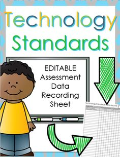 Assess the technology standards efficiently with this Technology Teacher Planning and Data Binder. Everything you need to get your technology lab prepped for the students $