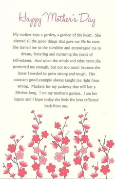 10 poems for mothers day |