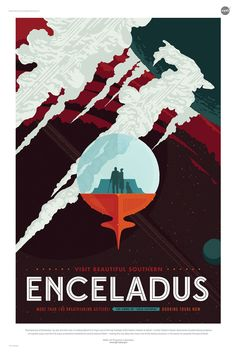 エンケラドゥス は、土星の第二惑星。