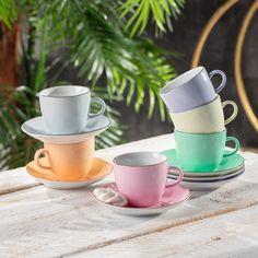 Sada šálok Rainbow pre všetkých milovníkov kávy a farieb.  #kava#salky#kuchyna#jedalen#servirovanie Tableware, Dinnerware, Tablewares, Dishes, Place Settings