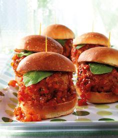 #Hauptgerichte #Mini #Burger #Scharf #Tomatensauce #Rezepte