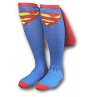 Supergirl Caped Knee Socks and many other fun socks from Gryfindor to Sloths $6-12 on A Mighty Girl
