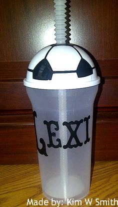 Add Vinyl Letters To Soccer Cups For Childs Soccer Team Craft - Vinyl letters for cups