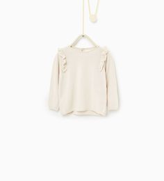 Sweater with shoulder frills-SWEATERS AND CARDIGANS-Baby girl-Baby | 3 months - 3 years-KIDS | ZARA United States