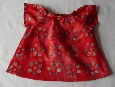 Blouse pour fille 6 mois en batik rouge : Mode Bébé par kikoune-kids