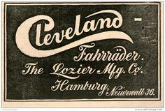 Original-Werbung/Inserat/ Anzeige 1899 - CLEVELAND FAHRRÄDER - ca. 130 x 80 mm