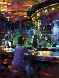 """Mel at the Bar"" by Michael Flohr. Fine Art Limited Edition, 20"" x 24"""