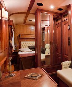 Take a look inside the most amazing suites aboard luxury trains like Venice Simplon-Orient Express, Seven Stars-Kyushu, Rovos Rail and more.