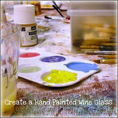 MagicMarkingsArt an artful blog about color and whimsy: Hand Painted Wine Glasses for a Wedding Shower
