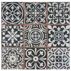 SomerTile 13x13-inch Faventia Nero Ceramic Floor and Wall Tile (Case of 10) - Overstock Shopping - Big Discounts on Somertile Floor Tiles