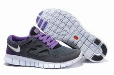 Women Nike Free Run 2 Carbon Gray Purple Running Shoes have to have these. Next pair for sure!!!