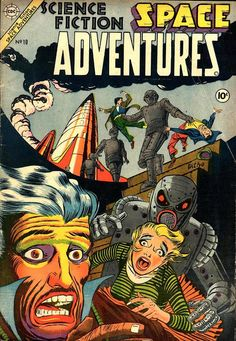 Comic Book Critic - Google+ - Space Adventures #10 (Spring '54) cover by Steve Ditko.