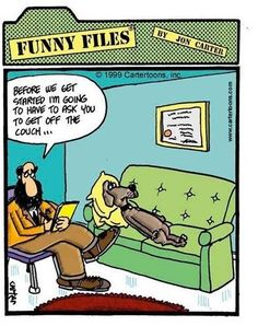 Location  Clean Jokes  u003e Funny Cartoons  u003e Dog Psychiatrist / Photosheaf.com