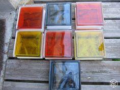 Pavés de verre couleur Bricolage Finistère - leboncoin.fr Decoration, Coasters, Painting, Bricks, Drinkware, Bricolage, Color, Decor, Coaster